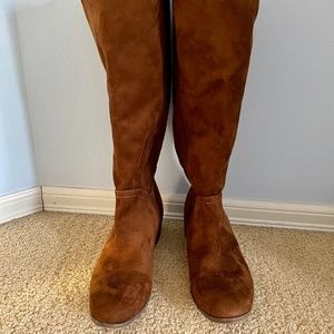 Brown Suede Riding Boots - 9WC